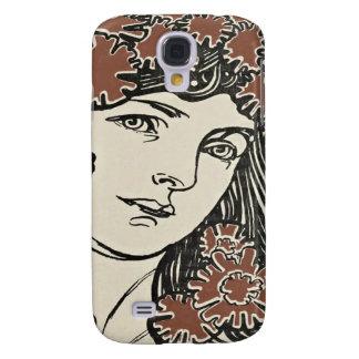 Alphonse Mucha Illustration Samsung Galaxy S4 Case