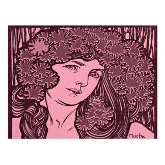 Alphonse Mucha Illustration Postcard