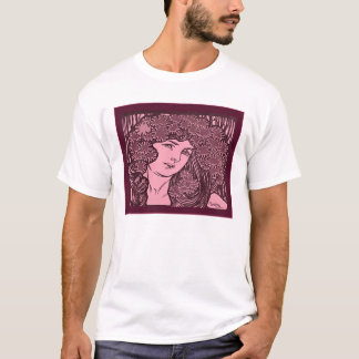 Alphonse Mucha Illustration T-Shirt