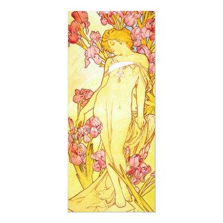 Alphonse Mucha Iris Invitations
