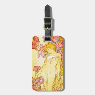 Alphonse Mucha Iris Luggage Tag