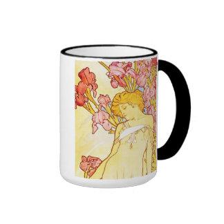 Alphonse Mucha Iris Mug