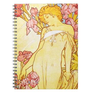 Alphonse Mucha Iris Notebook