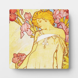 Alphonse Mucha Iris Plaque
