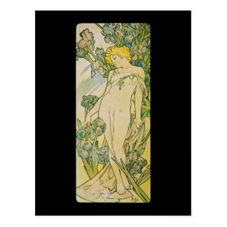 Alphonse Mucha Iris Postcard