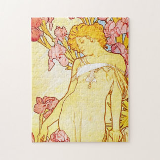 Alphonse Mucha Iris Puzzle