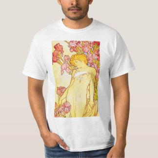 Alphonse Mucha Iris T-shirt