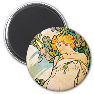 Alphonse Mucha - Iris WB Magnet