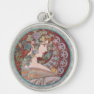 Alphonse Mucha Ivy Art Nouveau Keychain Key Chain
