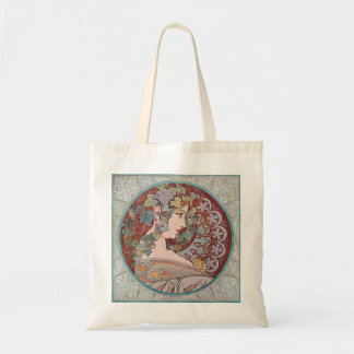 Alphonse Mucha Ivy Art Nouveau Tote Bag