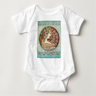 Alphonse Mucha Ivy Baby Bodysuit