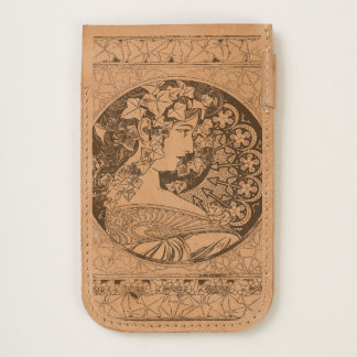 Alphonse Mucha Ivy iPhone6 Leather Pouch