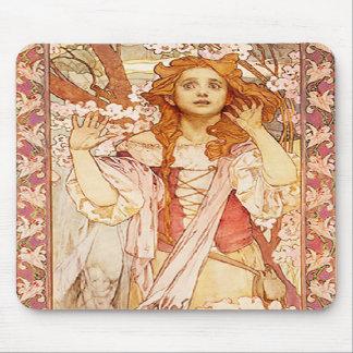 Alphonse Mucha Joan of Arc Mouse Pad