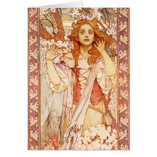 Alphonse Mucha Joan of Arc Note Card