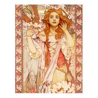 Alphonse Mucha Joan of Arc Postcard