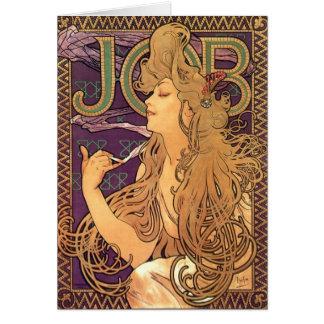 Alphonse Mucha - Job advert personalized gift Card