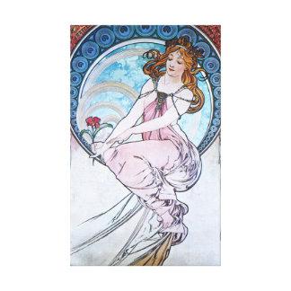 Alphonse Mucha. La Peinture/Painting, 1898 Canvas Print