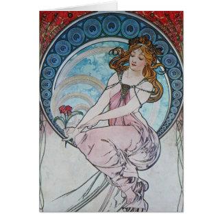 Alphonse Mucha. La Peinture/Painting, 1898 Greeting Cards