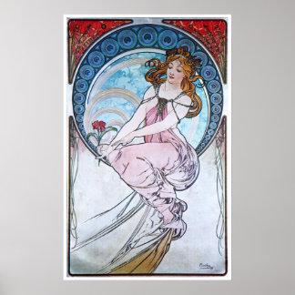 Alphonse Mucha. La Peinture/Painting, 1898 Print