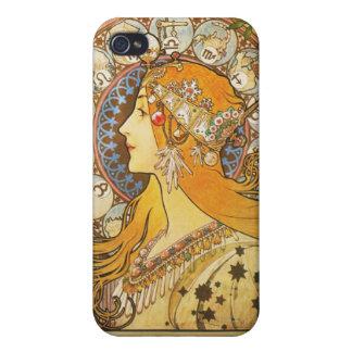 Alphonse Mucha. La Plume. 1896. iPhone 4/4S Cases