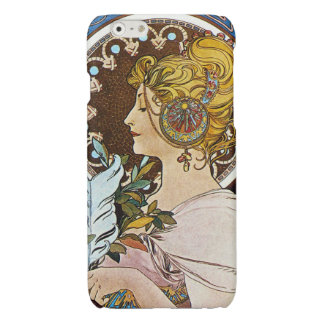 Alphonse Mucha La Plume Quill Pen Art Nouveau Glossy iPhone 6 Case