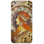 Alphonse Mucha La Plume Zodiac Art Nouveau Vintage Barely There iPhone 6 Plus Case
