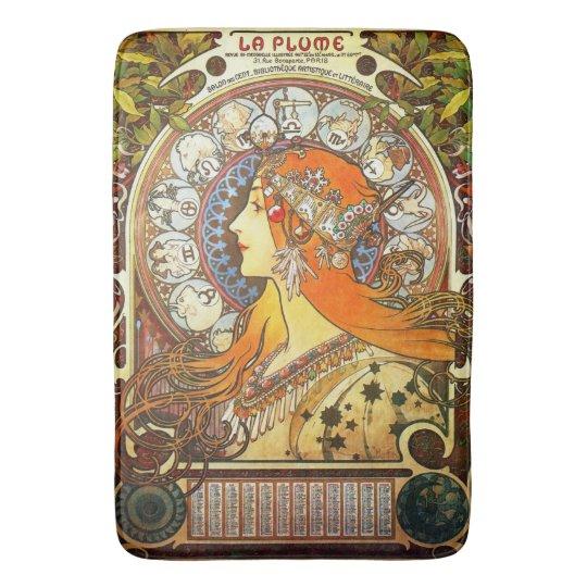 Bathroom Art Nouveau: Alphonse Mucha La Plume Zodiac Art Nouveau Vintage