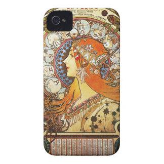 Alphonse Mucha La Plume Zodiac Art Nouveau Vintage Case-Mate iPhone 4 Case