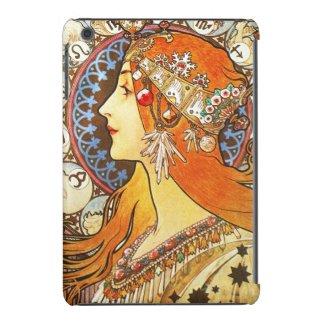Alphonse Mucha La Plume Zodiac Art Nouveau Vintage iPad Mini Covers