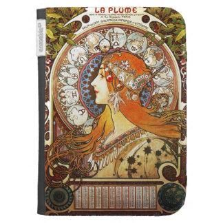 Alphonse Mucha La Plume Zodiac Art Nouveau Vintage Kindle 3 Covers