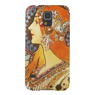 Alphonse Mucha La Plume Zodiac Art Nouveau Vintage Galaxy S5 Cases