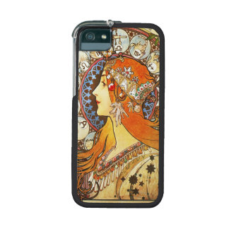 Alphonse Mucha La Plume Zodiac Art Nouveau Vintage iPhone 5 Cover