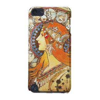 Alphonse Mucha La Plume Zodiac Art Nouveau Vintage iPod Touch (5th Generation) Cover