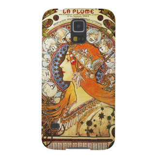 Alphonse Mucha La Plume Zodiac Art Nouveau Vintage Galaxy S5 Case