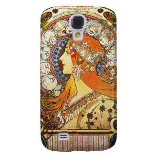 Alphonse Mucha La Plume Zodiac Art Nouveau Vintage Samsung Galaxy S4 Case