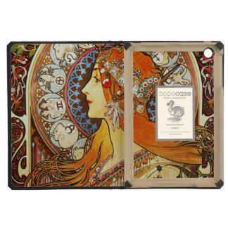 Alphonse Mucha La Plume Zodiac Art Nouveau Vintage iPad Mini Cover