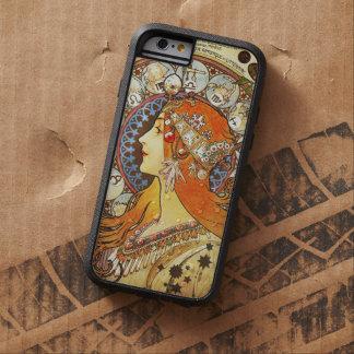 Alphonse Mucha La Plume Zodiac Art Nouveau Vintage Tough Xtreme iPhone 6 Case