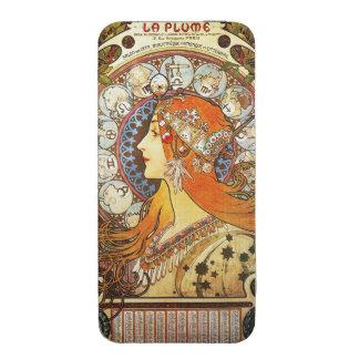 Alphonse Mucha La Plume Zodiac Art Nouveau Vintage iPhone 5 Pouch