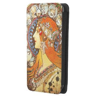Alphonse Mucha La Plume Zodiac Art Nouveau Vintage Galaxy S4 Pouch