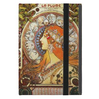 Alphonse Mucha La Plume Zodiac Art Nouveau Vintage Cover For iPad Mini