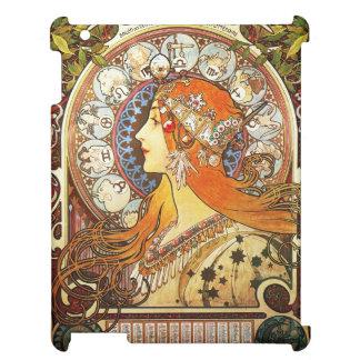 Alphonse Mucha La Plume Zodiac Art Nouveau Vintage iPad Cover