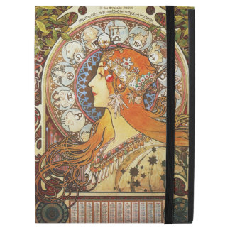 """Alphonse Mucha La Plume Zodiac Art Nouveau Vintage iPad Pro 12.9"""" Case"""