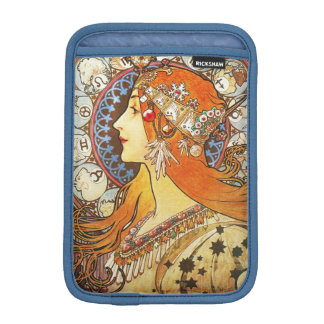 Alphonse Mucha La Plume Zodiac Art Nouveau Vintage iPad Mini Sleeves