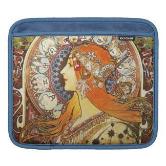 Alphonse Mucha La Plume Zodiac Art Nouveau Vintage Sleeve For iPads