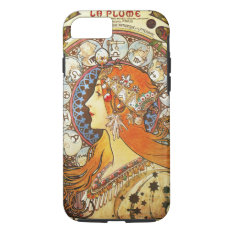 Alphonse Mucha La Plume Zodiac Art Nouveau Vintage iPhone 7 Case at Zazzle