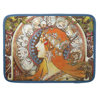 Alphonse Mucha La Plume Zodiac Art Nouveau Vintage MacBook Pro Sleeves