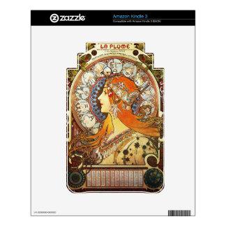 Alphonse Mucha La Plume Zodiac Art Nouveau Vintage Decal For The Kindle 3