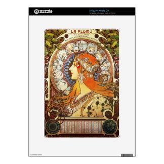 Alphonse Mucha La Plume Zodiac Art Nouveau Vintage Kindle DX Skins