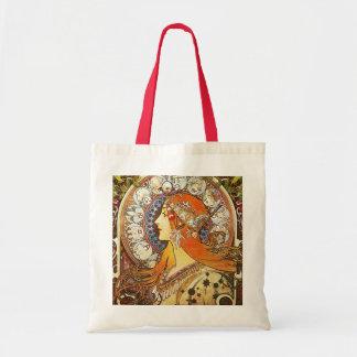 Alphonse Mucha La Plume Zodiac Art Nouveau Vintage Tote Bag