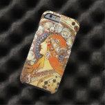 Alphonse Mucha La Plume Zodiac Art Nouveau Vintage Tough iPhone 6 Case